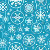 Christmas snowflakes seamless pattern Stock Images