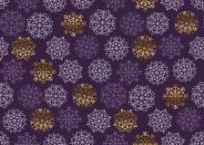 Christmas snowflakes seamless pattern. Royalty Free Stock Photo
