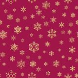 Christmas snowflakes seamless repeating pattern background. EPS 10 royalty free illustration