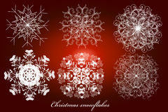 Christmas snowflakes set Royalty Free Stock Photos