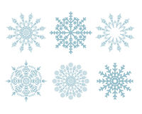 Christmas snowflakes set isolated Stock Photos