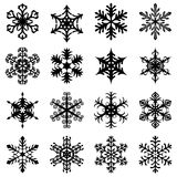 Christmas snowflakes set. Vector illustrations of Christmas snowflakes set Royalty Free Stock Image