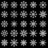 Christmas snowflakes. Simple vector illustration set Royalty Free Stock Image