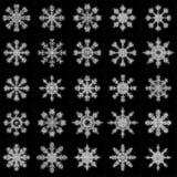 Christmas snowflakes. Simple vector illustration set vector illustration
