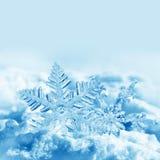 Christmas snowflakes on snow Stock Image