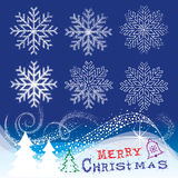 Christmas Snowflakes stock images