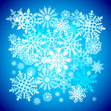 Christmas snowflakes snow winter holiday ornament illustration background Royalty Free Stock Photography