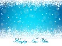 Christmas snowflakes and snowdrift. Christmas snowflakes and snowdrift on blue background. Vector illustration Stock Photography
