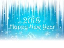 Christmas snowflakes and snowdrift. Christmas snowflakes and snowdrift on blue background. Happy New Year postcard. Vector illustration Stock Photos