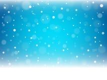 Christmas snowflakes and snowdrift. Christmas snowflakes and snowdrift on blue background. Vector illustration Royalty Free Stock Image