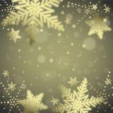 Christmas snowflakes and snowdrift. Christmas snowflakes and snowdrift on colorful background. Vector illustration Royalty Free Stock Photos