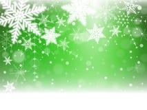 Christmas snowflakes and snowdrift. Christmas snowflakes and snowdrift on green background. Vector illustration Royalty Free Stock Photos