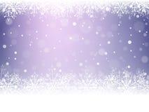 Christmas snowflakes and snowdrift. Christmas snowflakes and snowdrift on violet background. Vector illustration Stock Photo