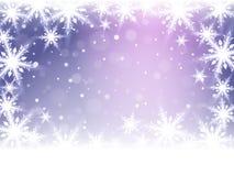 Christmas snowflakes and snowdrift. Christmas snowflakes and snowdrift on violet background. Vector illustration Stock Photography