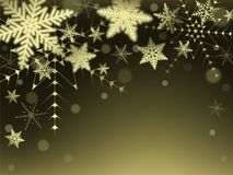 Christmas snowflakes and snowdrift. Christmas snowflakes and snowdrift on colorful background. Vector illustration Royalty Free Stock Photo