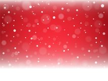 Christmas snowflakes and snowdrift. On red background. Vector illustration Royalty Free Stock Images