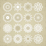 Christmas snowflakes - stickers. Royalty Free Stock Images
