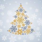 Christmas snowflakes tree Stock Photos