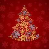 Christmas snowflakes tree Royalty Free Stock Photo