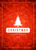 Christmas snowflakes and typography label design Royalty Free Stock Photo