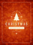Christmas snowflakes and typography label design Stock Photos