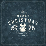 Christmas snowflakes and typography label design Royalty Free Stock Image