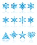 Christmas snowflakes  vector Royalty Free Stock Image