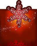 Christmas snowflakes / vector background Royalty Free Stock Photos