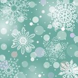 Christmas snowflakes vector background Royalty Free Stock Photo