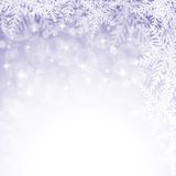 Christmas snowflakes on violet background. Stock Photos