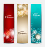 Christmas Snowflakes Website Banner and Card Stock Photos
