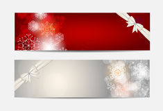 Christmas Snowflakes Website Banner and Card Royalty Free Stock Photography