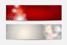 Christmas Snowflakes Website Banner and Card Royalty Free Stock Photos