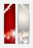 Christmas Snowflakes Website Banner and Card Royalty Free Stock Images
