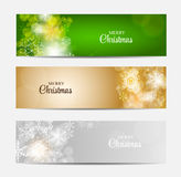 Christmas Snowflakes Website Header and Banner Set Stock Images