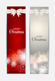 Christmas Snowflakes Website Header and Banner Set Royalty Free Stock Photos