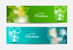 Christmas Snowflakes Website Header and Banner Set Royalty Free Stock Image