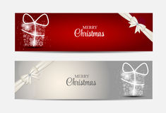 Christmas Snowflakes Website Header and Banner Set Stock Photography