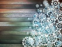 Christmas snowflakes on wood. plus EPS10 Royalty Free Stock Images