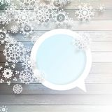 Christmas snowflakes on wood. plus EPS10 Royalty Free Stock Photography