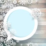 Christmas snowflakes on wood. plus EPS10 Royalty Free Stock Photo