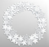Christmas snowflakes wreath Stock Photography