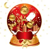 Christmas snowglobe Royalty Free Stock Photos