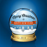Christmas Snowglobe Background Stock Photography