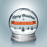 Christmas Snowglobe Background Royalty Free Stock Images