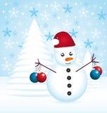 Christmas snowman Stock Photos