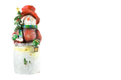 Christmas snowman. royalty free stock images