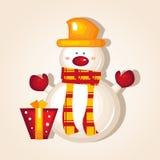 Christmas snowman. Cute Christmas snowman  illustration Stock Photos