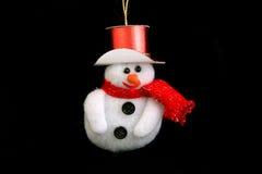 Christmas snowman royalty free stock photography