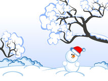 Christmas-snowman royalty free illustration